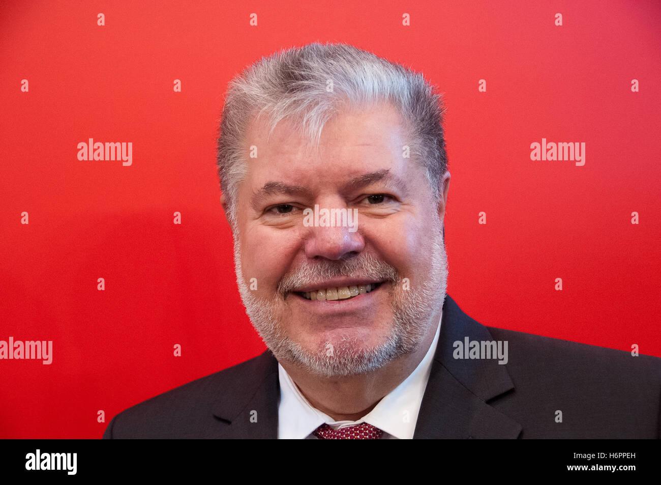 Kurt Beck, deutscher Politiker (SPD, Frankfurter Buchmesse 2014 Stockbild