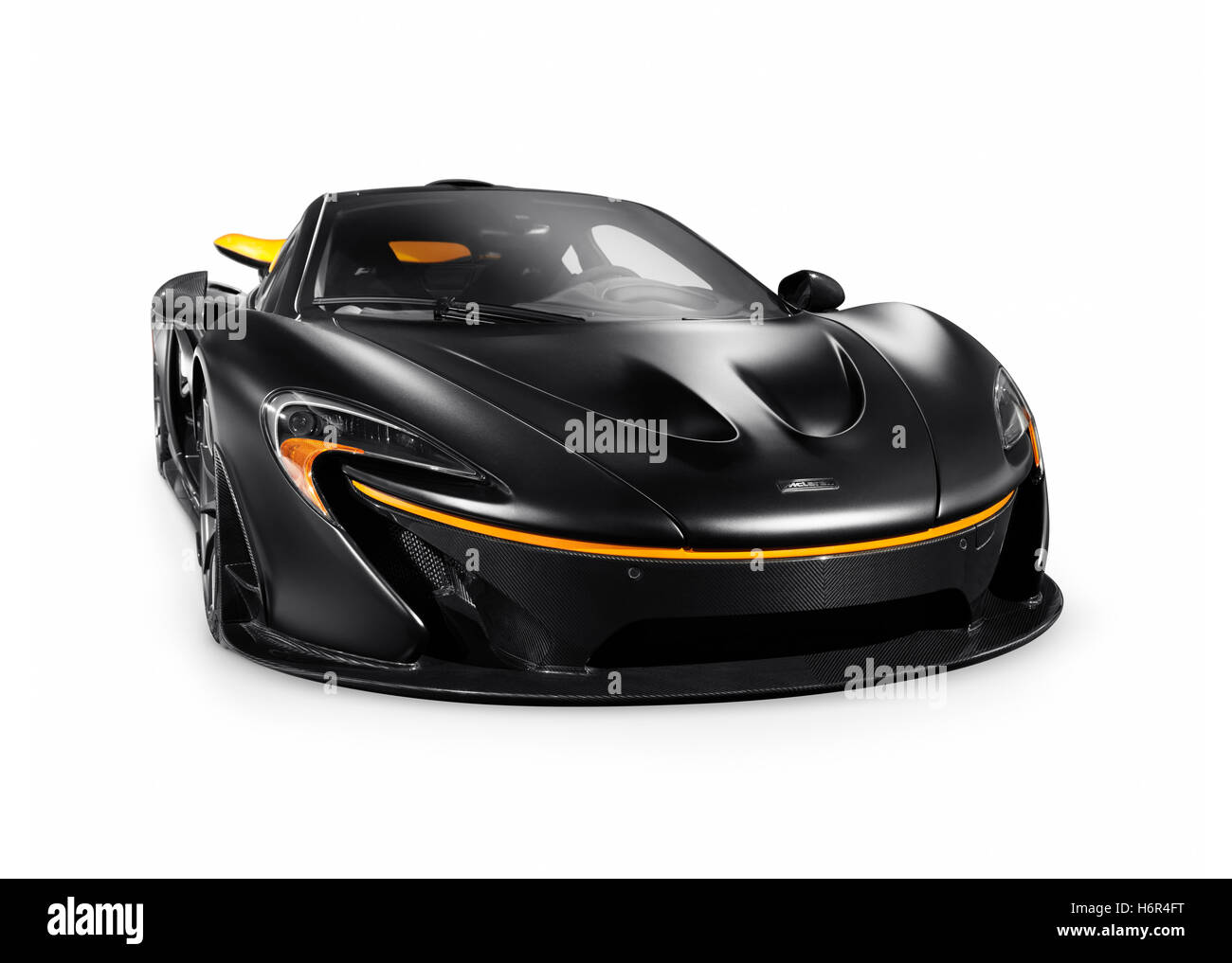 matt schwarz 2015 mclaren p1 plug in hybrid supersportwagen isoliert sportwagen auf wei em. Black Bedroom Furniture Sets. Home Design Ideas