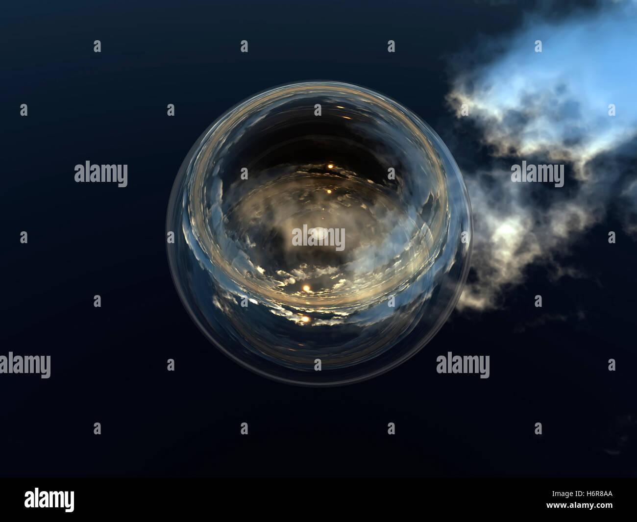 zukünftige Astrologie Wahrsagen Wahrsagen Hellsehen Grafik auffällig piktografischen durchsichtigen Kugel Stockbild