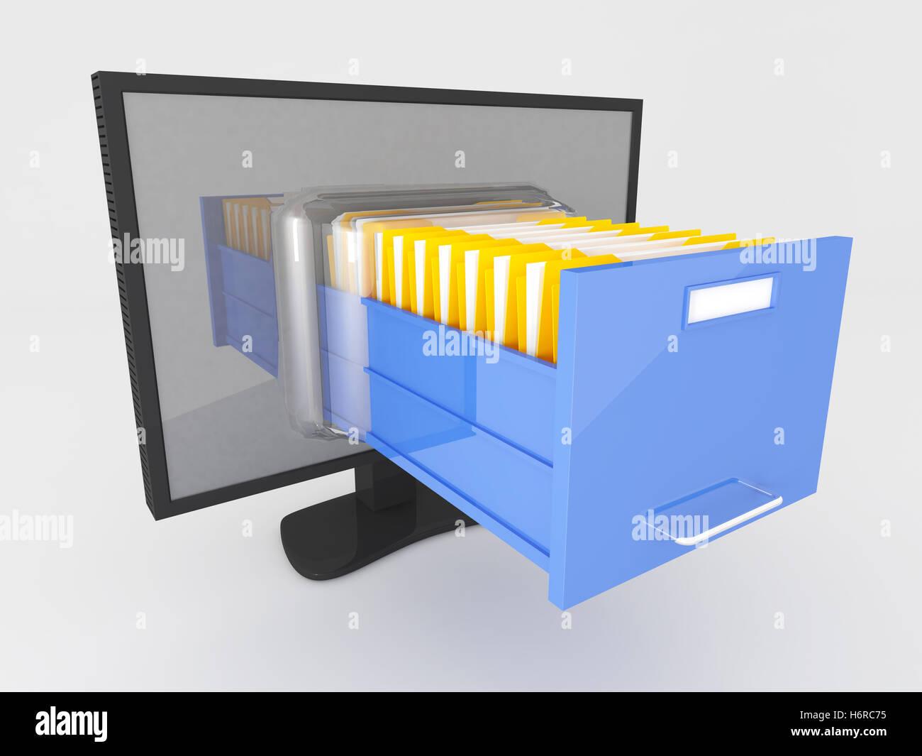 PC Computer Computer Schrank Aktenschrank Schrank Schrank Bildschirm ...