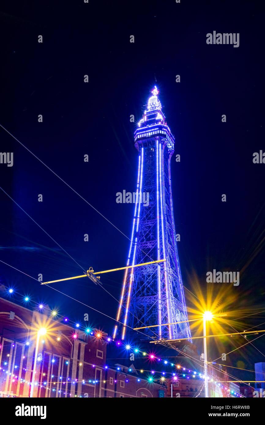 Blackpool, Lancashire, UK. 1. November 2016. Das Lightpool Festival wird mit sechs Nächte atemberaubende live Stockbild