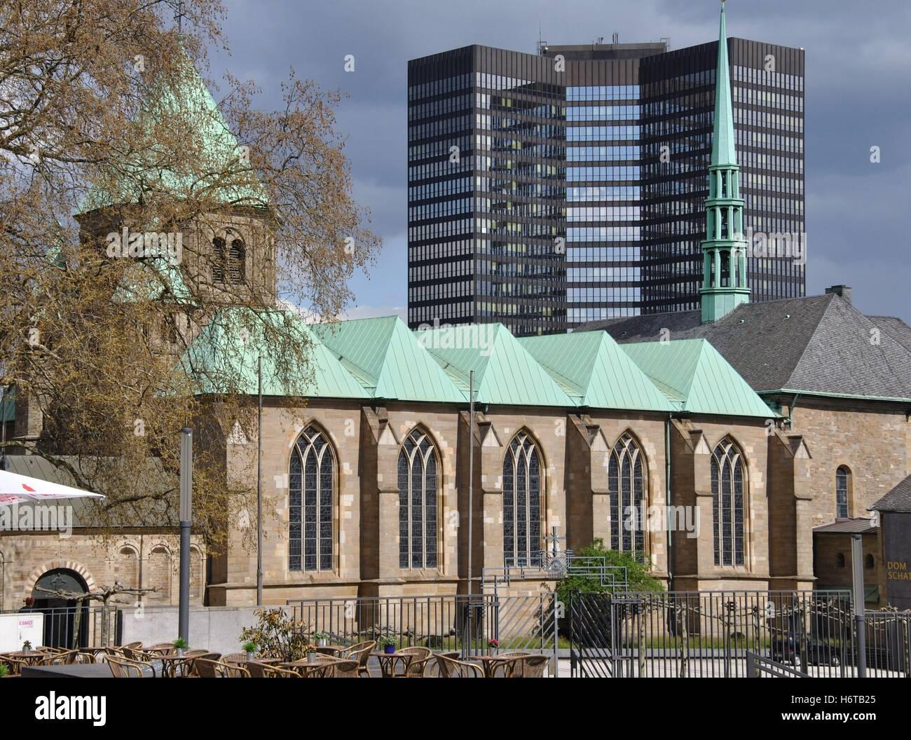 Kathedrale Baustil Bau architektonischen Stil Essen Westfalen Turm ...