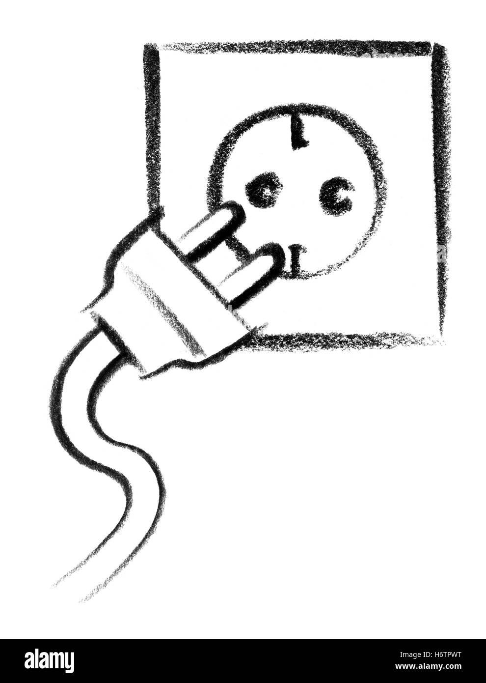 Zeichen signalisieren Kunst Malerei Energie macht Strom Strom ...