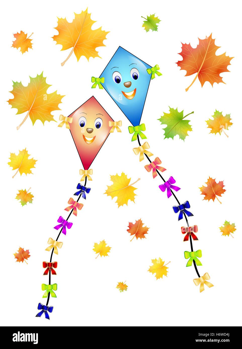 Herbst Drachen Stockfoto Bild 124719634 Alamy