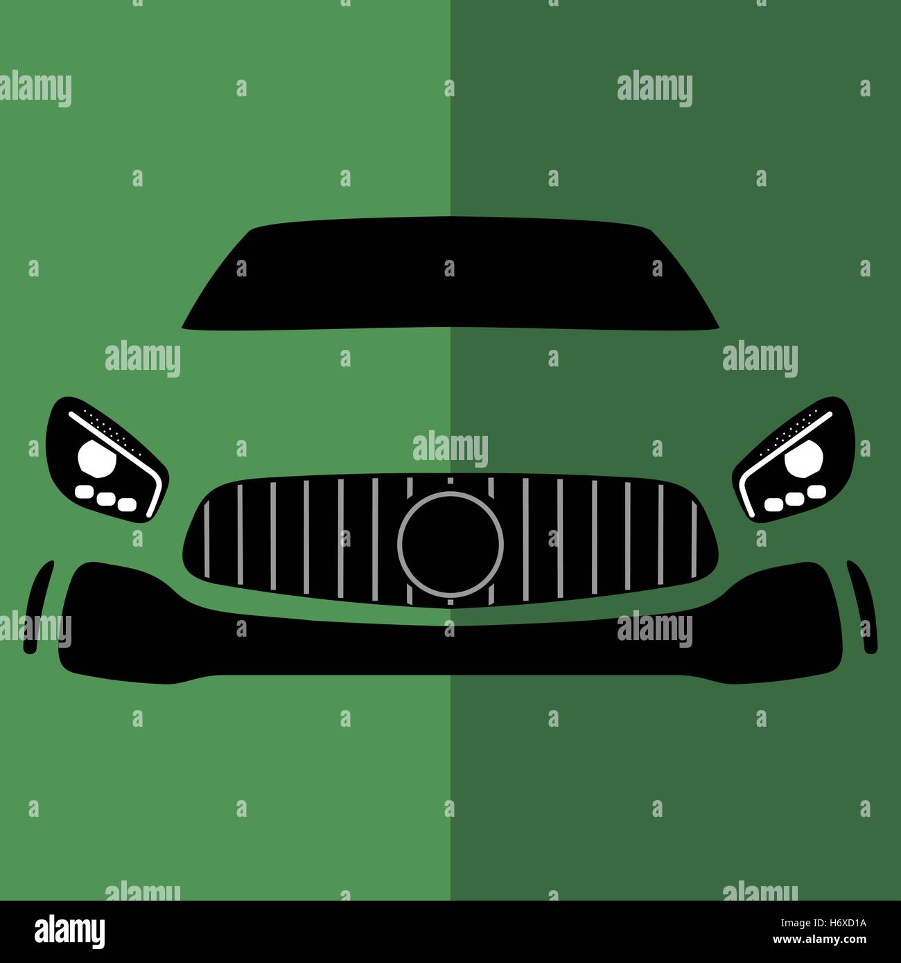 Vektor Vorderansicht grünes Auto Stockbild