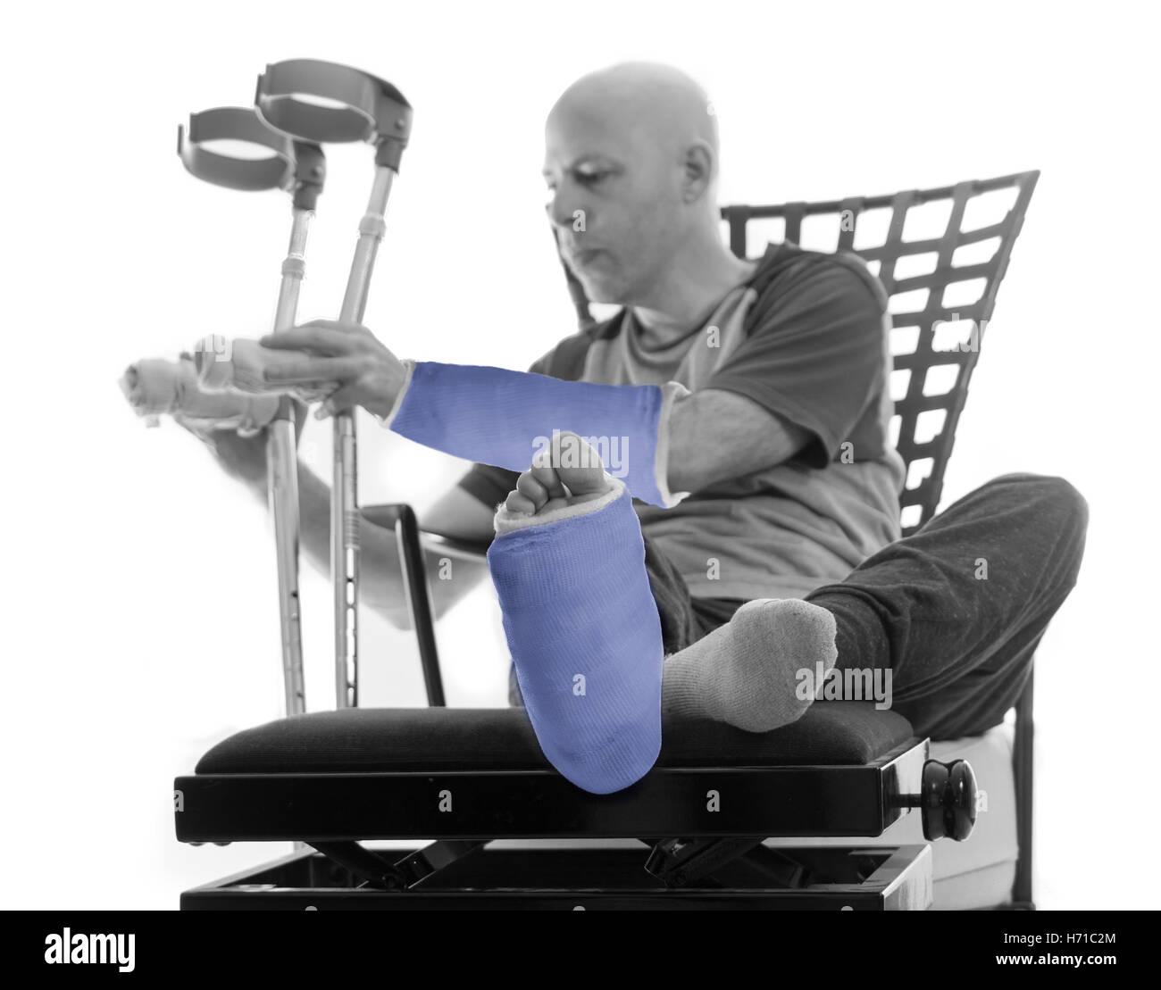 Beine gebrochen gips beide Unfall im