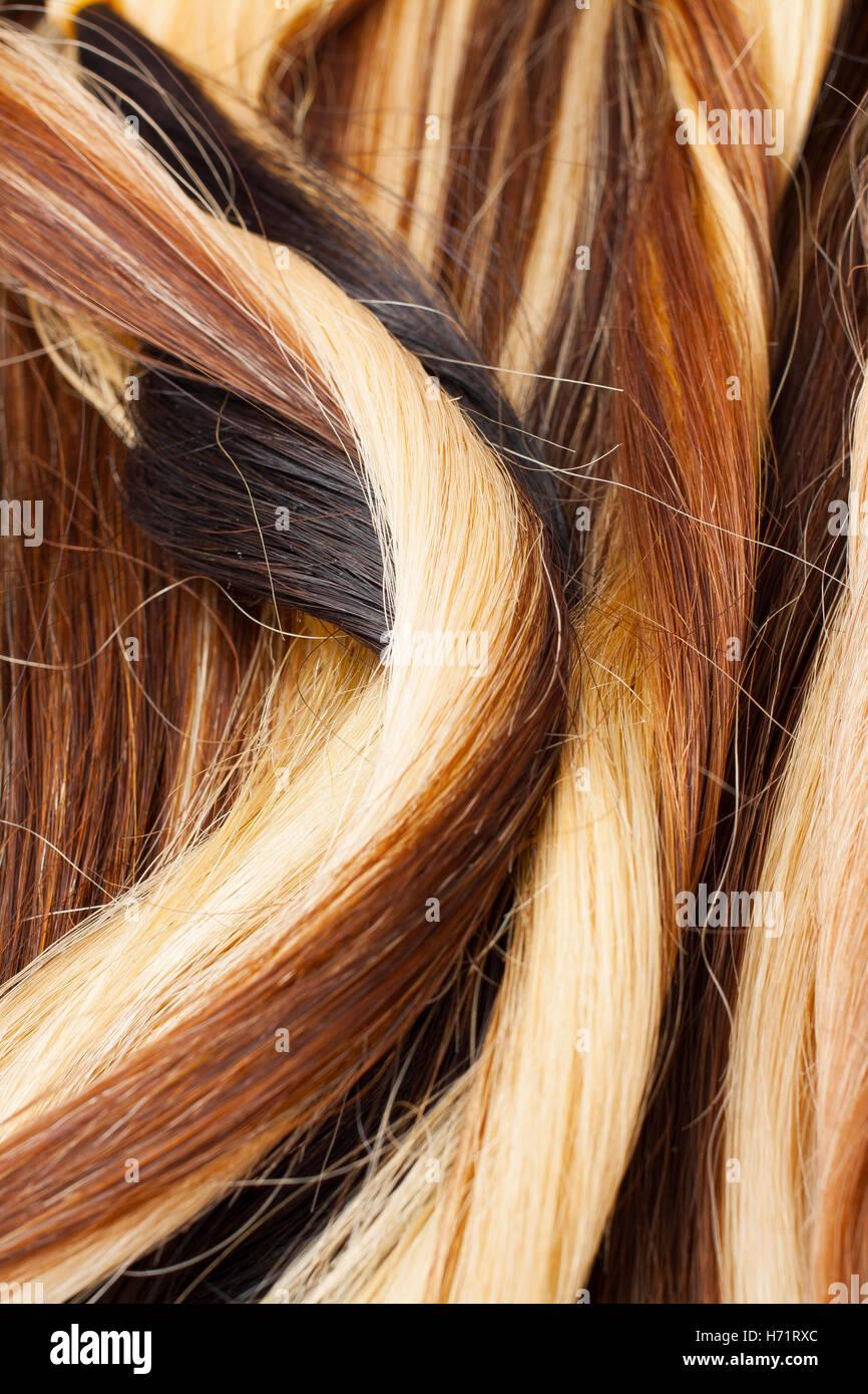 Europäisches Echthaar Verlängerung Schuß Farbige Trocken Und