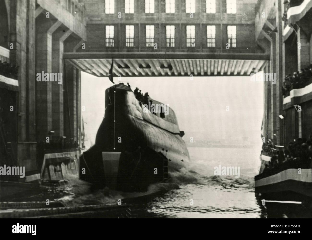 U-Boot befindet sich in Reichweite, USA Stockbild