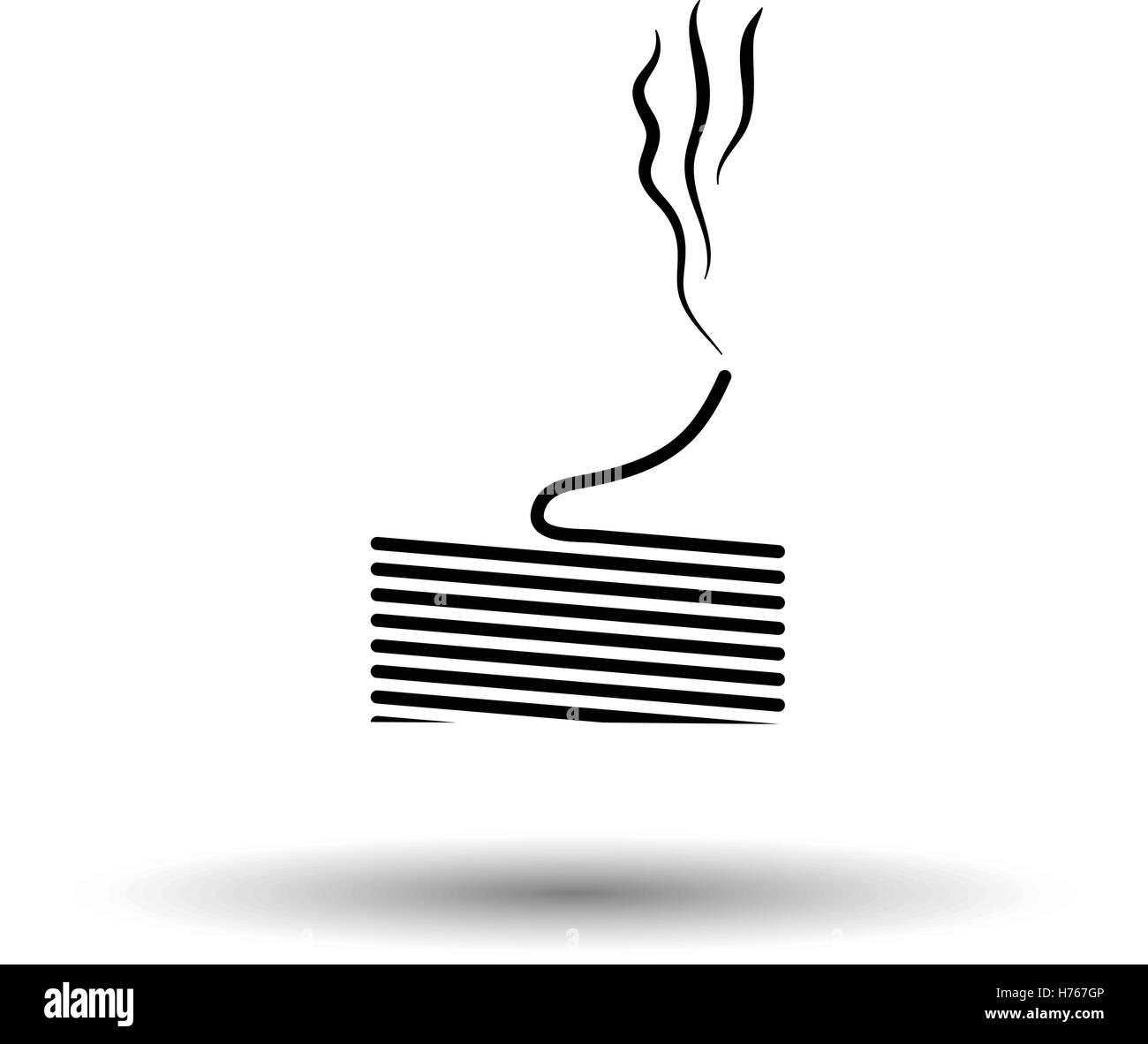 Löten Sie Draht-Symbol. Weißen Hintergrund mit Schatten Design ...