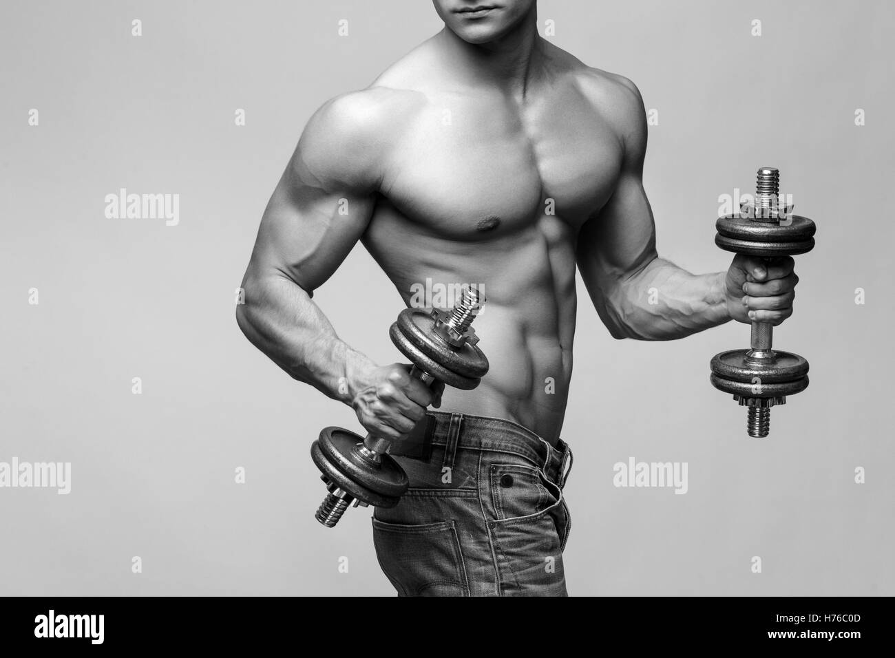 Pecs Arms Biceps Stockfotos & Pecs Arms Biceps Bilder - Alamy