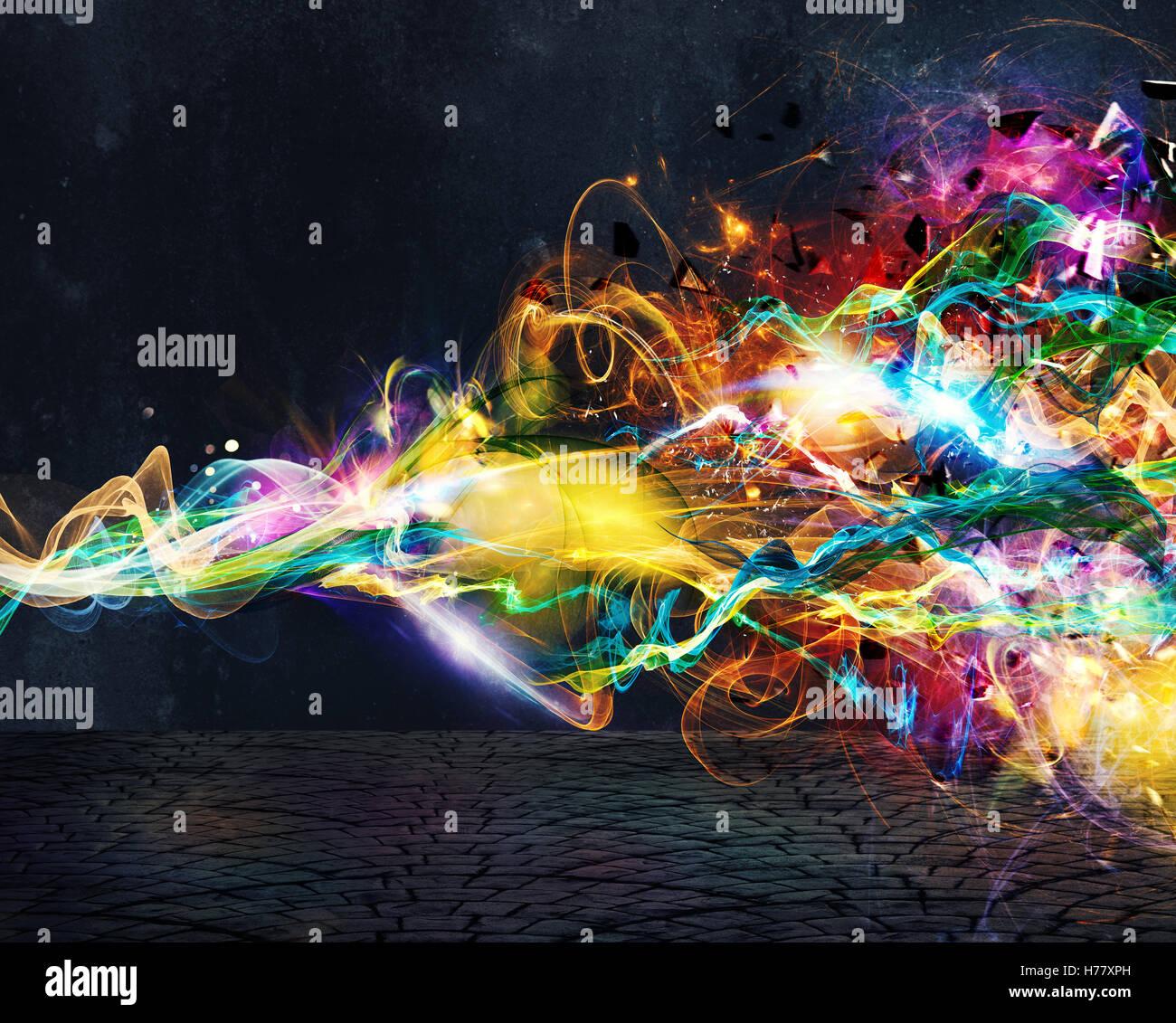 Moderne abstrakte Bewegung Banner auf dunklem Hintergrund Stockbild