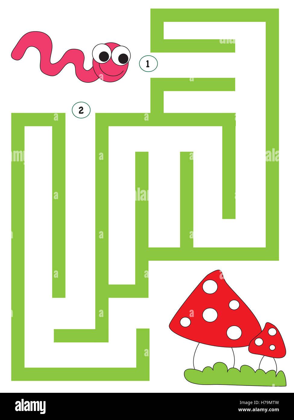 einfach Labyrinth für Kinder Stockfoto, Bild: 124989113 - Alamy