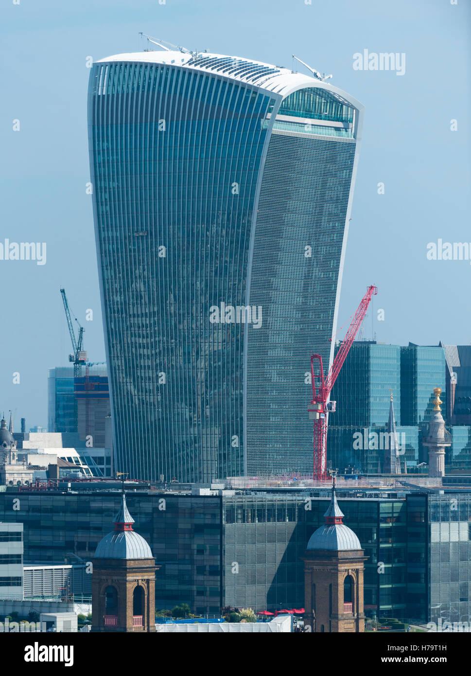 London City Southbank 20 Fenchurch Street aka das WalkieTalkie Hochhaus 160 m 525 ft hoch Stockbild