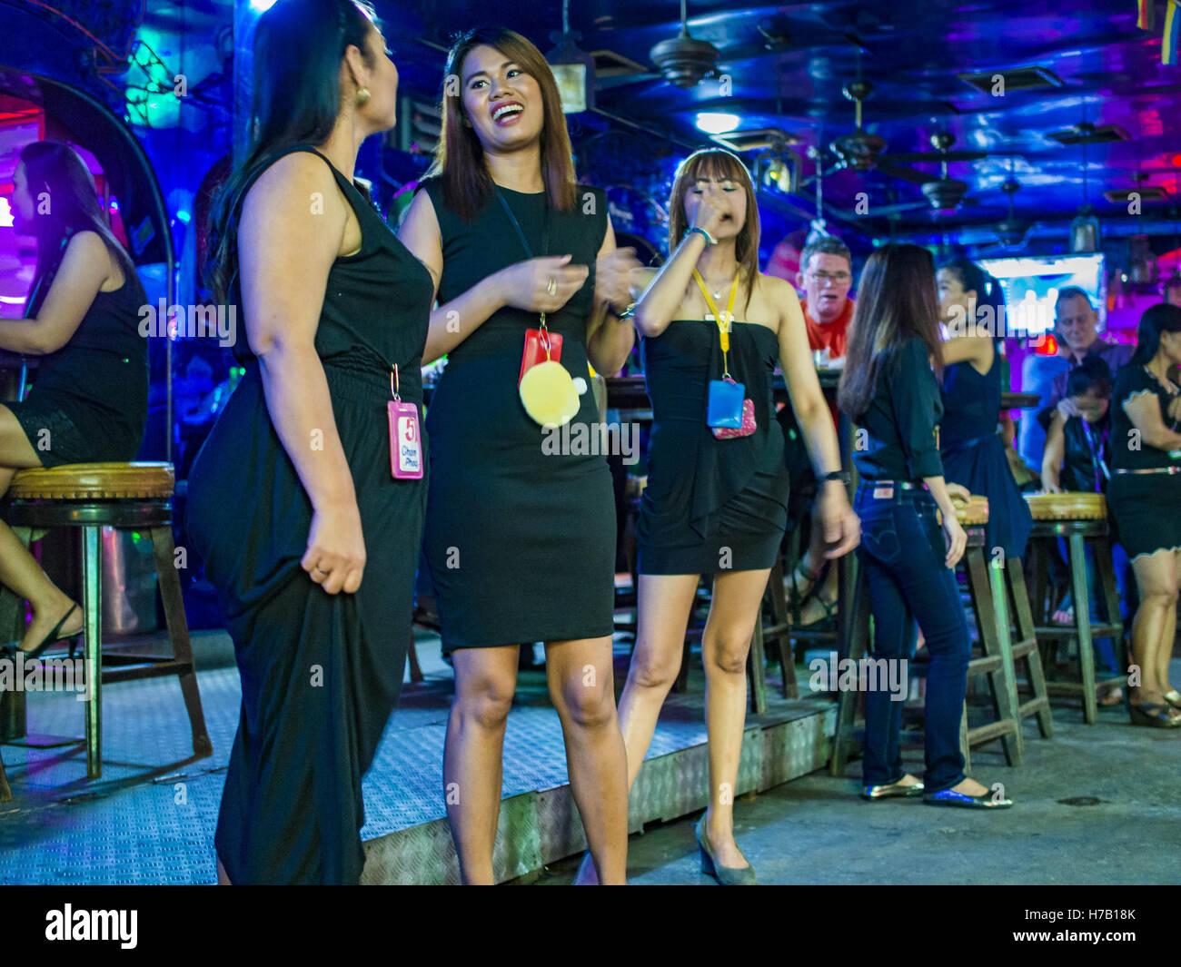Schwarze Prostituierte in Bangkok