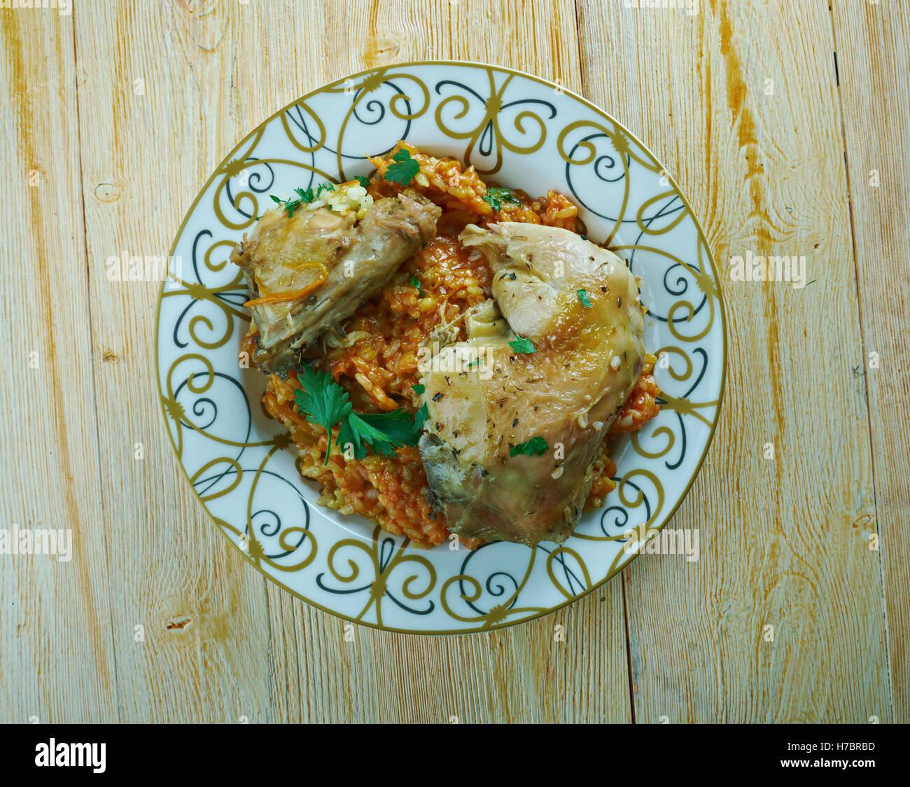 Poulet de Komoren. Komoren Huhn - Küche Komoren Stockfoto, Bild ...