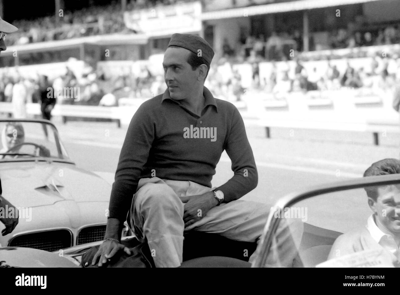 1958 Prince Behra Thai motor Racing Fahrer Parade Spa Belgien Stockbild