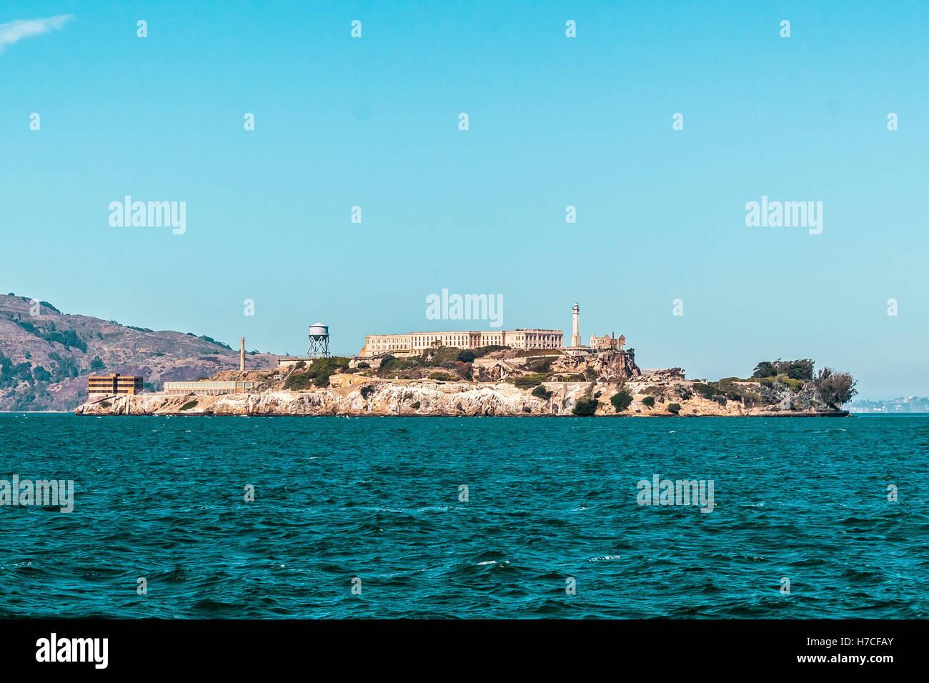 Foto von Gefängnis Alcatraz in San Francisco, Kalifornien Stockbild