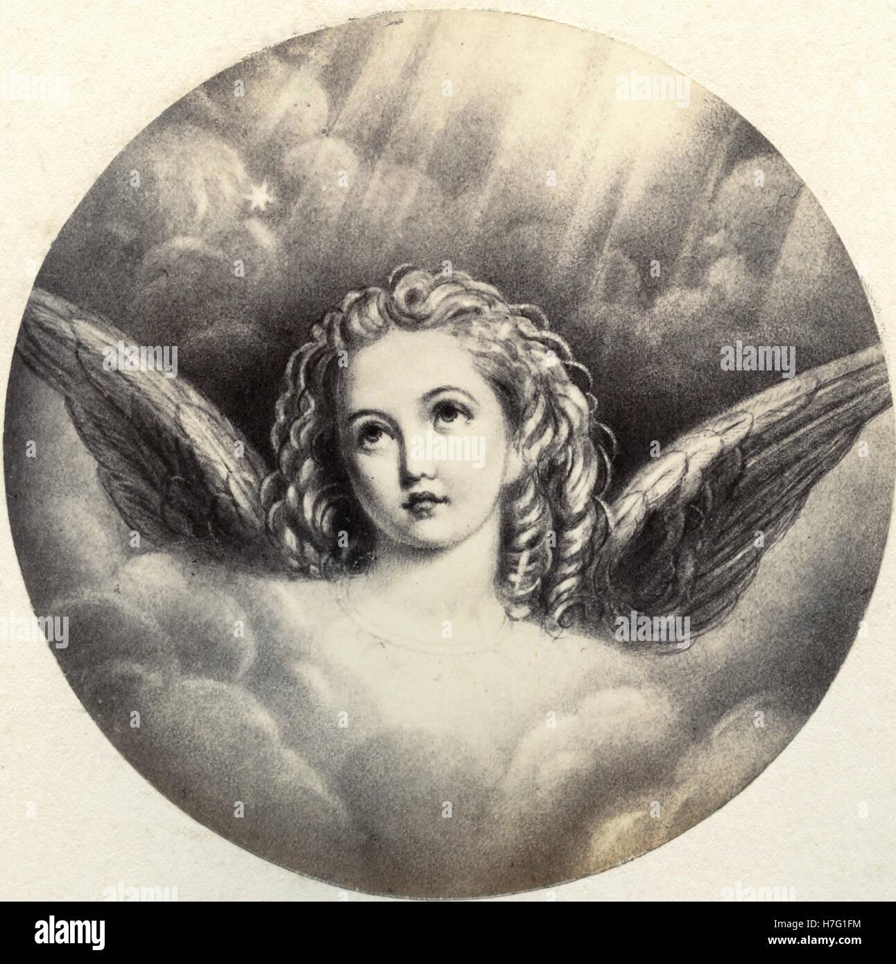 Engel, drucken Stockbild