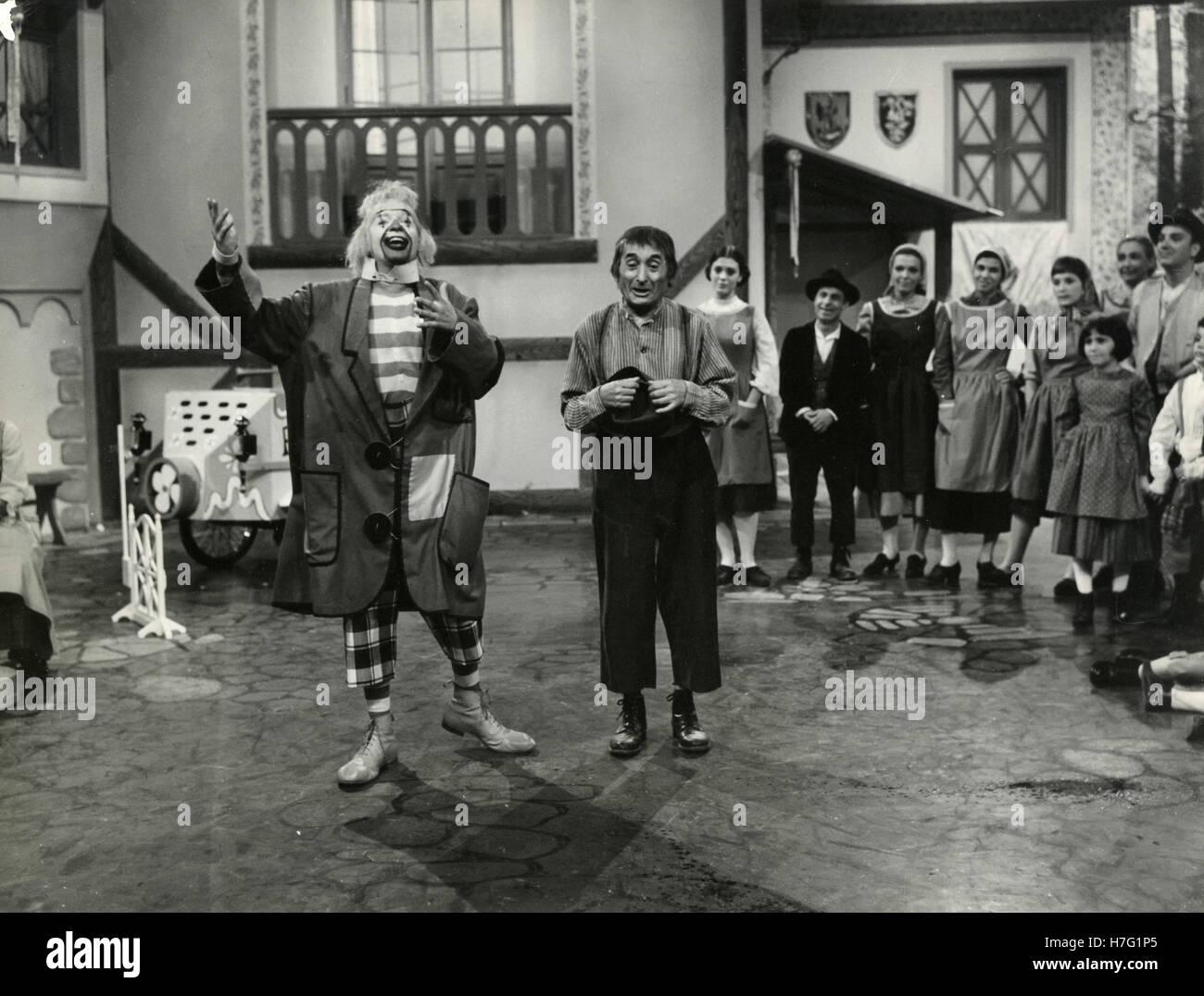 Italienischer Schauspieler Nino di Napoli in der TV-Fiktion Fred Buonumore, Italien 1968 Stockbild