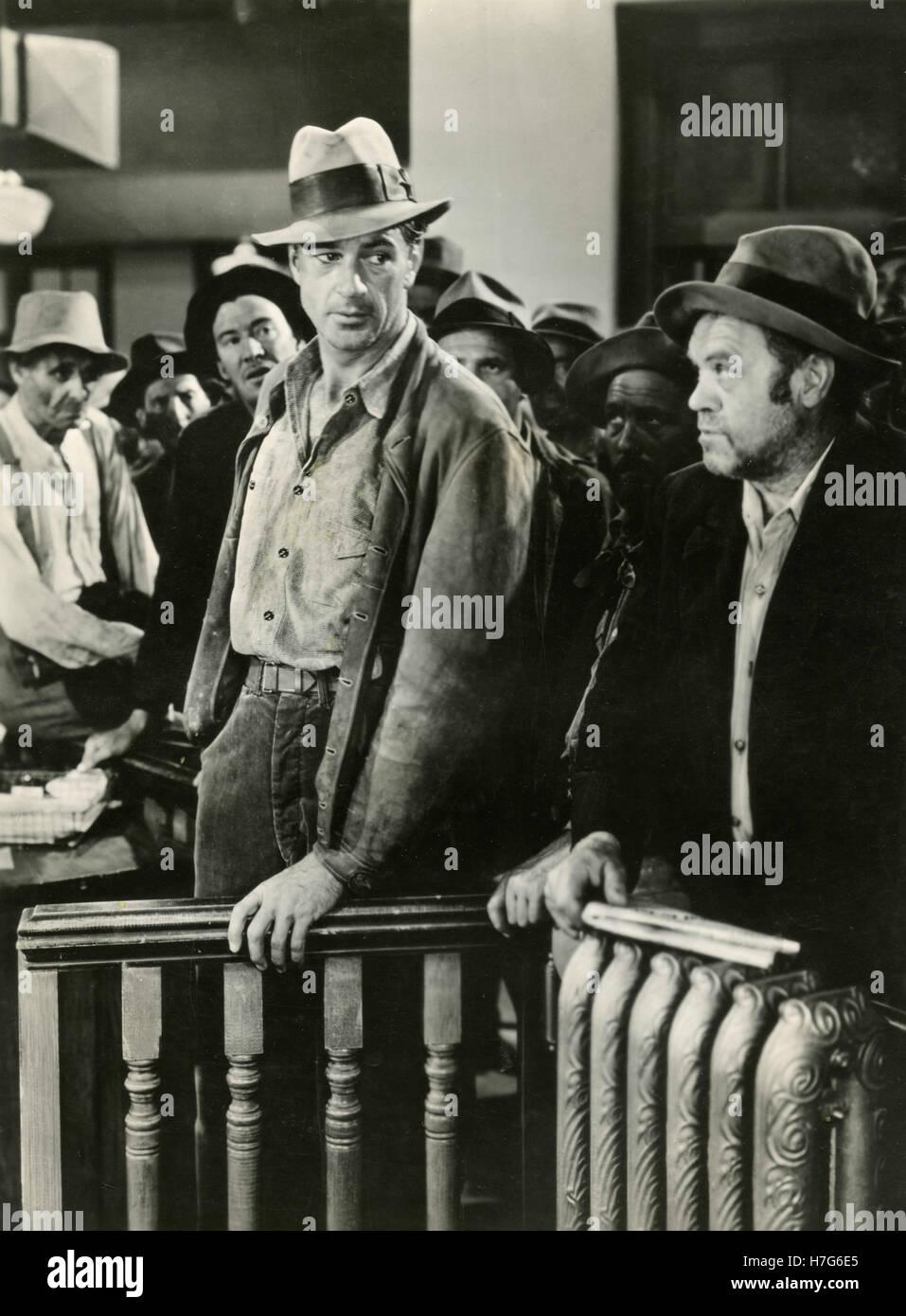Schauspieler Gary Cooper in dem Film Meet John Doe, USA 1941 Stockbild