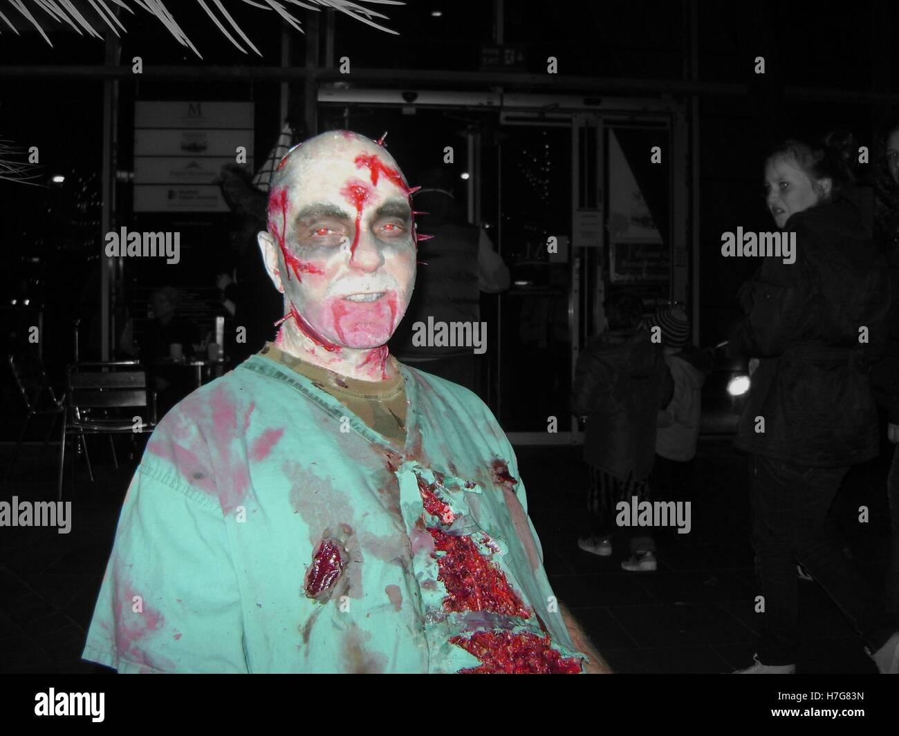 The walking dead Zombie Stockfoto