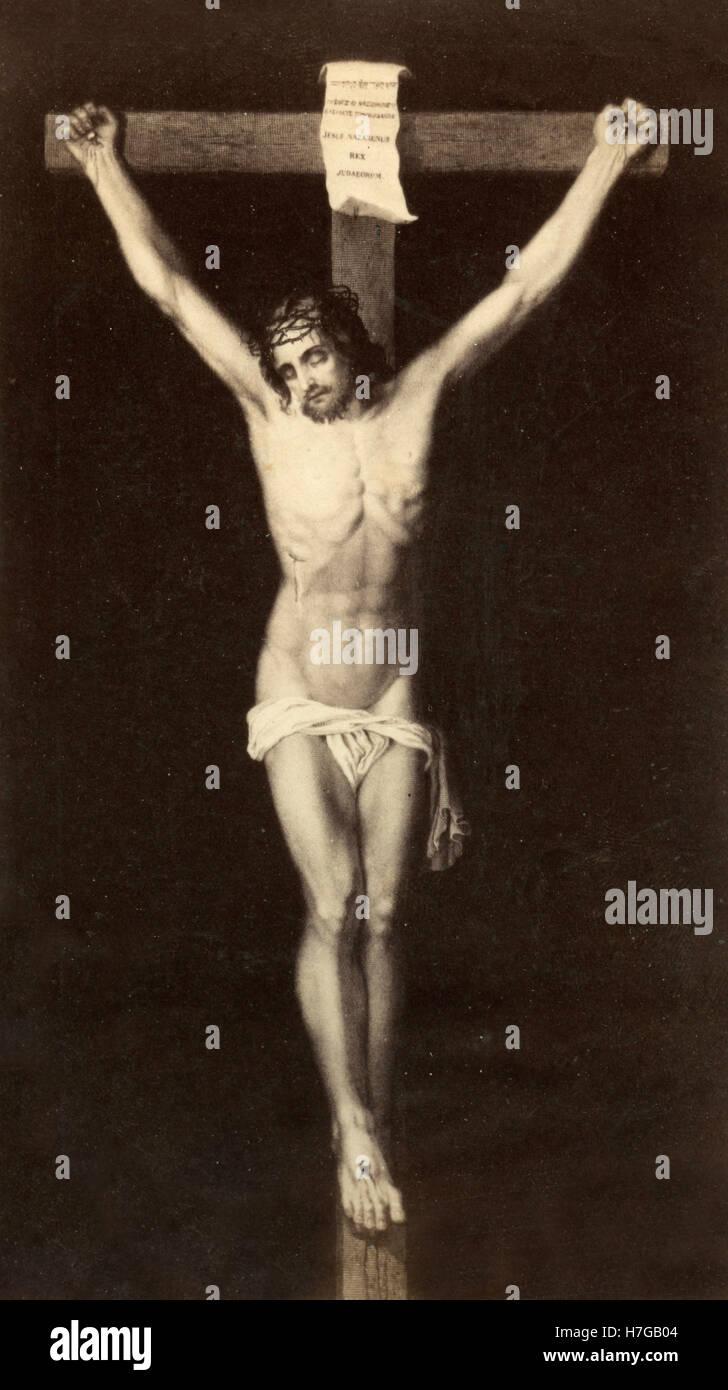 Christus am Kreuz, Gemälde von Dürer Stockbild