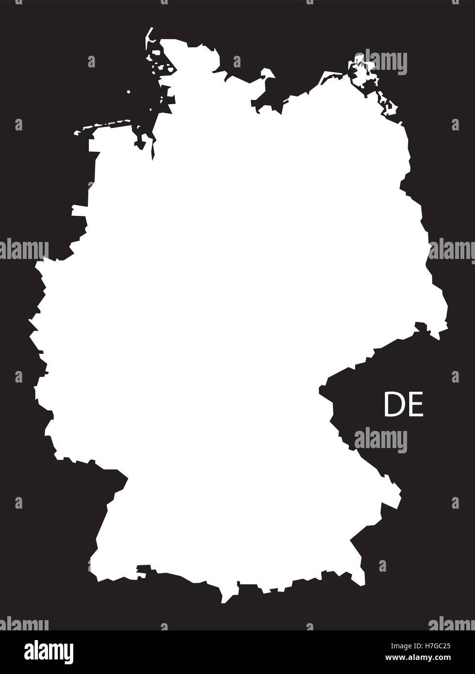 de8f5ffb6e6a1c Deutschland Karte schwarz weiß Vektor Abbildung - Bild  125135869 ...