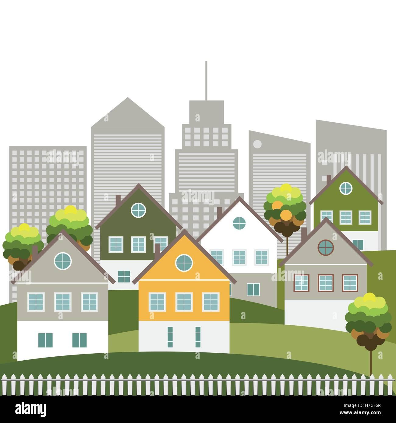 Modern Green City-Konzept Stockbild