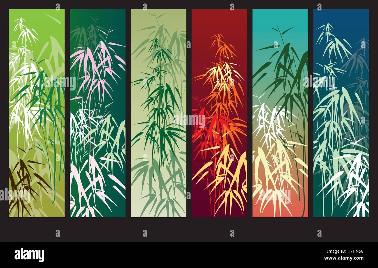 Bambus Vektor Hintergrund Mit Banner Fur Text Oder Bild Vektor