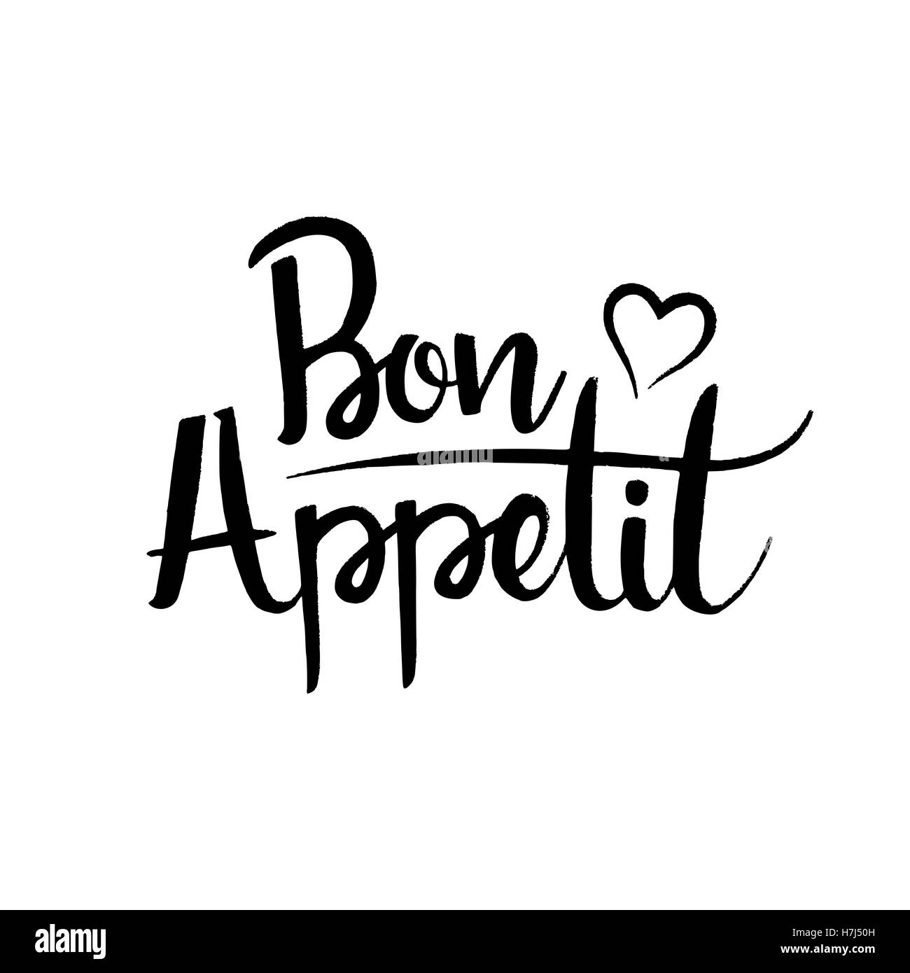 bon appetit hand lettering stockfotos bon appetit hand lettering bilder alamy. Black Bedroom Furniture Sets. Home Design Ideas