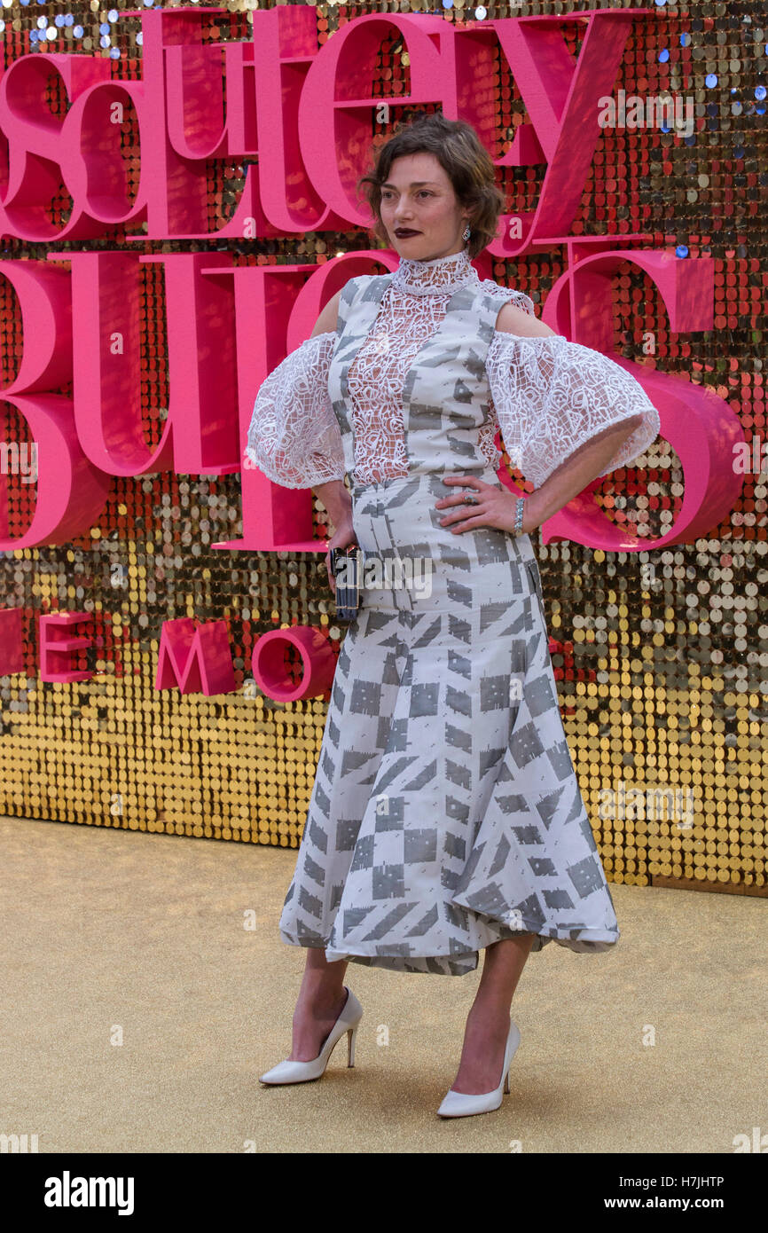 Prominente besuchen Absolutely Fabulous Filmpremiere am Leicester Square in London Stockbild