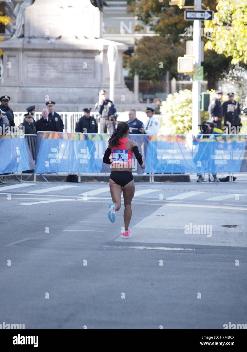 New York, New York, USA. 6. November 2016. NYC Marathon, Central Park, New York, NY USA Credit: Frank Rocco/Alamy Stockfoto