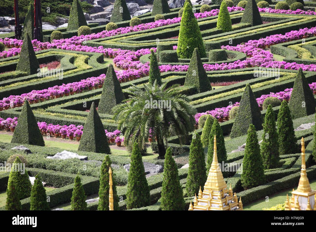 Beispiele der Landschaft entwerfen, Thailand, Südostasien Stockbild