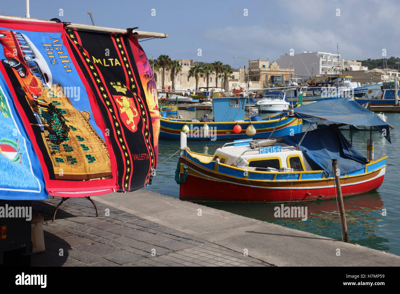 Market Valletta Malta Stockfotos Market Valletta Malta