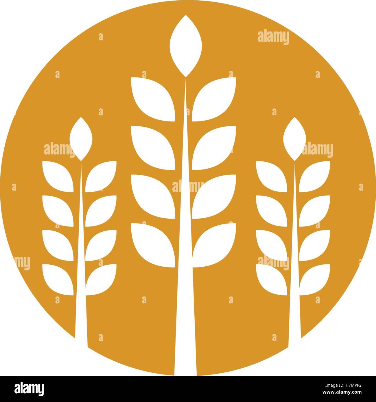 Weizen-Logo Vorlage Vektor Abbildung - Bild: 125232074 - Alamy