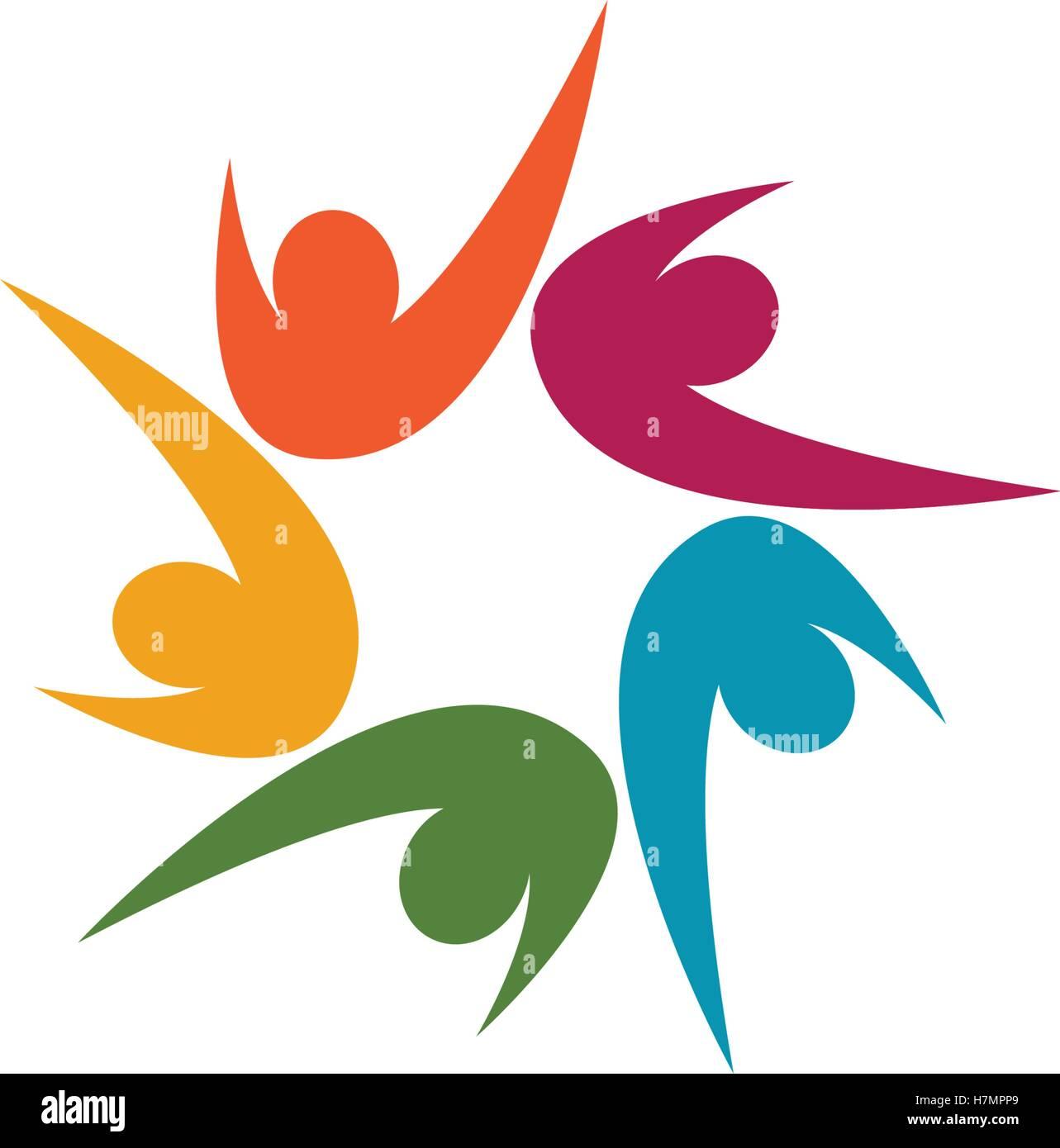 Annahme und Gemeinschaft Pflege Logo Vorlage Vektor icon Vektor ...