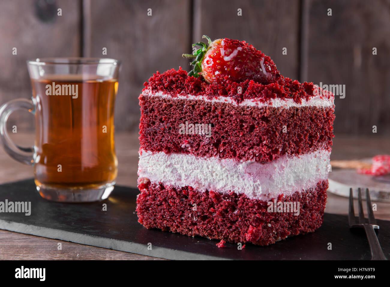 Roter Samtkuchen Stockfotos Roter Samtkuchen Bilder Alamy