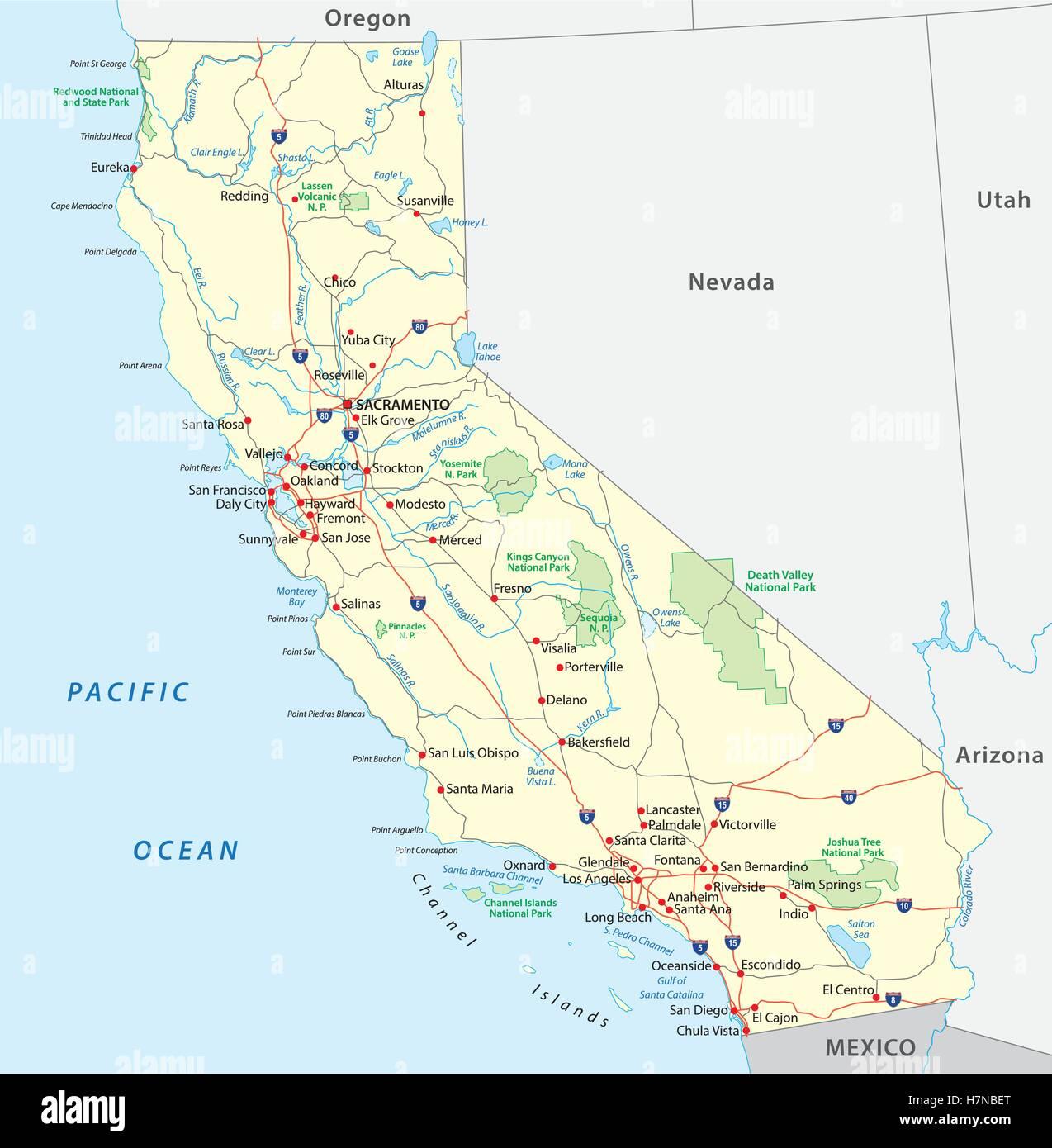 Kalifornien Karte Stockfotos Kalifornien Karte Bilder Alamy