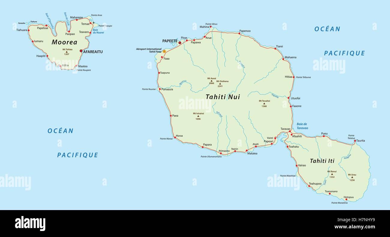 Tahiti Map Stockfotos & Tahiti Map Bilder - Alamy