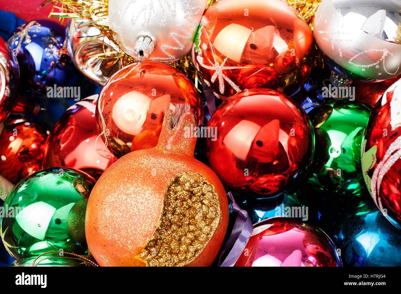 Weihnachtsbaumschmuck gl nzendes echtglas vintage weihnachtskugeln bunte auff llige brilliant - Weihnachtskugeln vintage ...