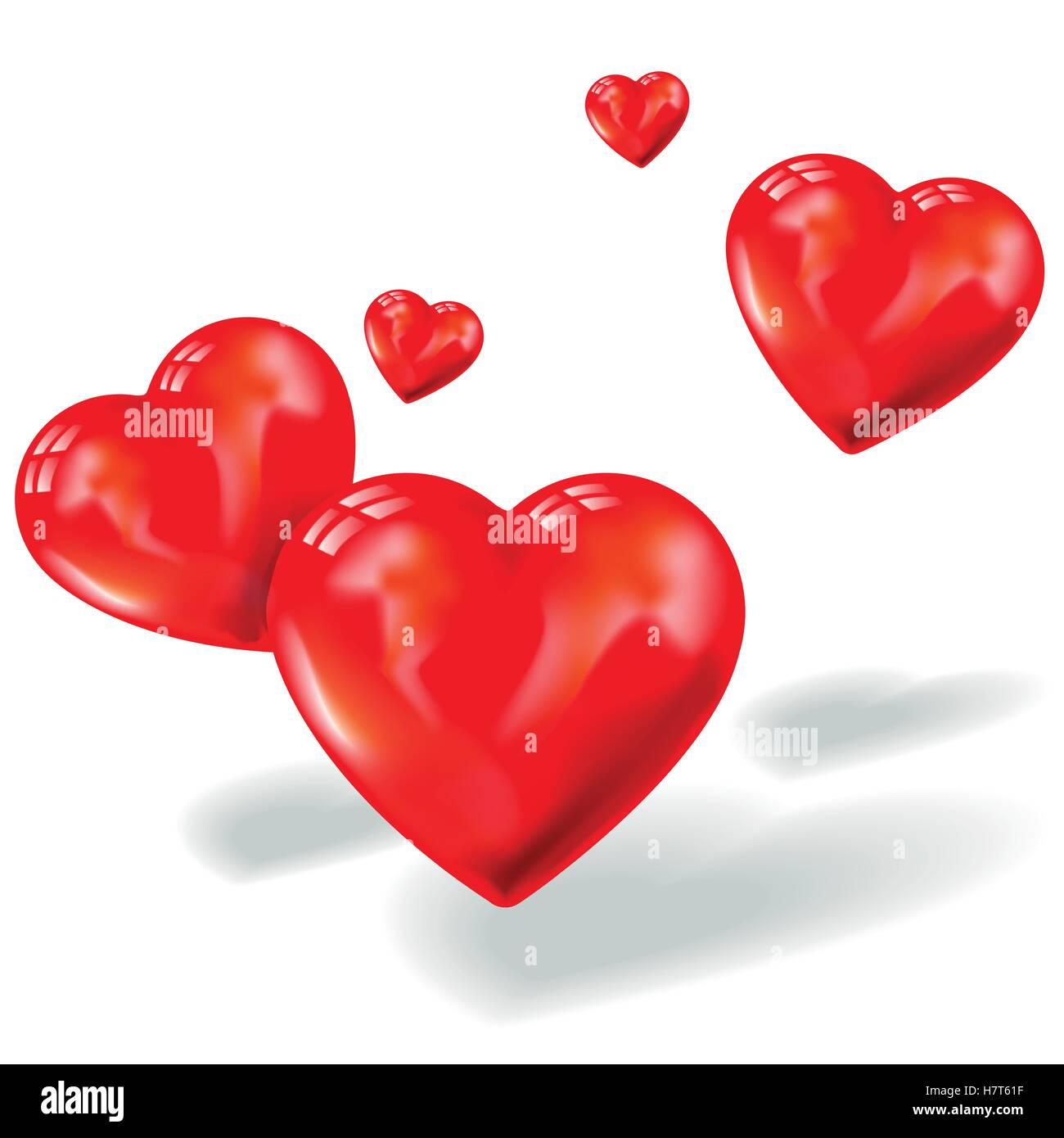 romantische, Herzen, herzlich, Liebe, verliebt, verliebte