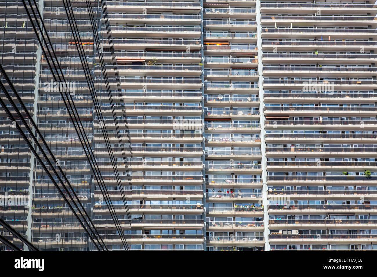 Brüssel, Belgien, High-Rise Gebäude auf dem Gare du Nord, viele ...