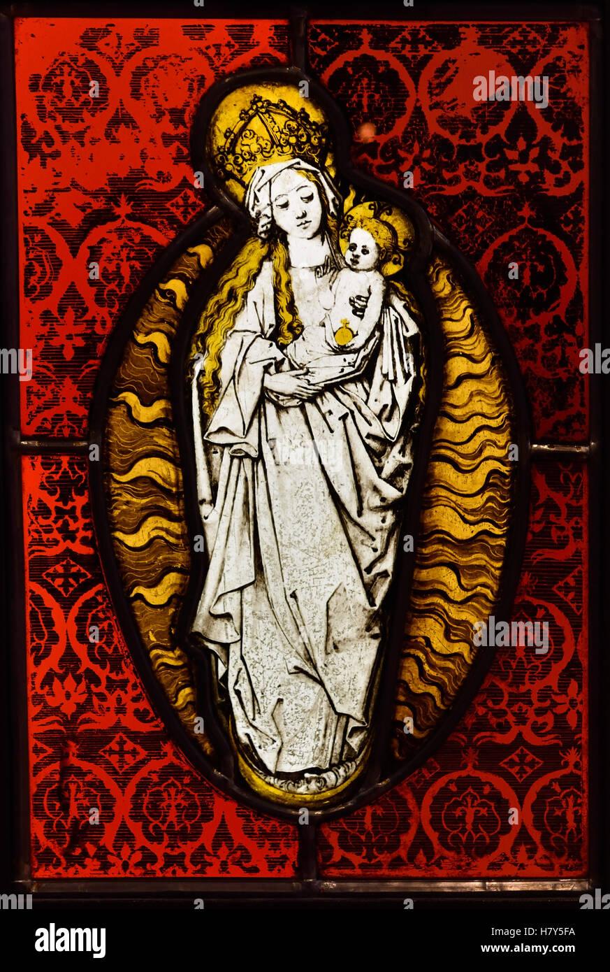 Maria mit Kind in der Lilienstengel 1500 Srassburg Deutsch Deutschland Stockbild