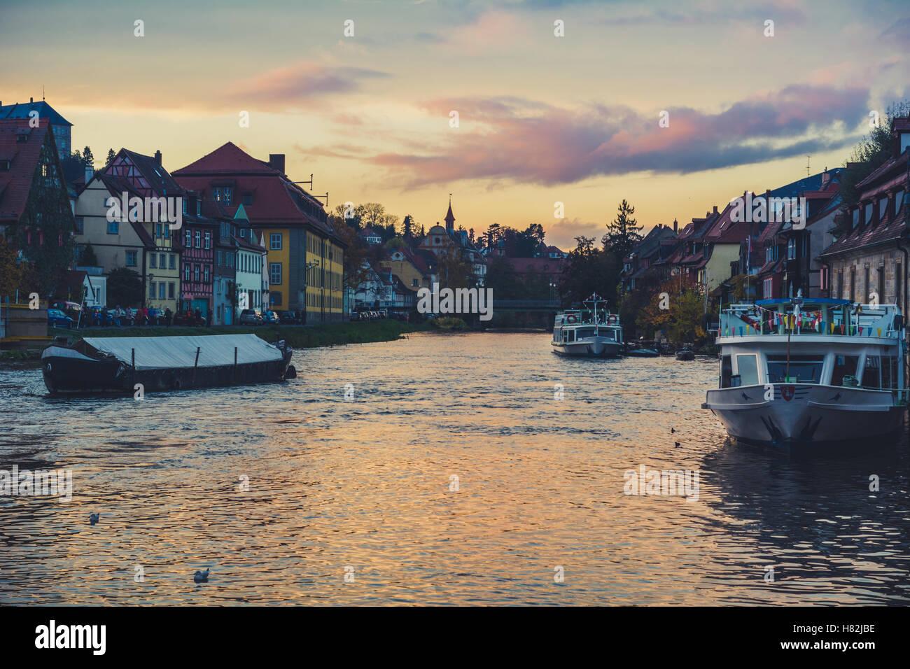 Klein Venedig Bamberg Stockbild