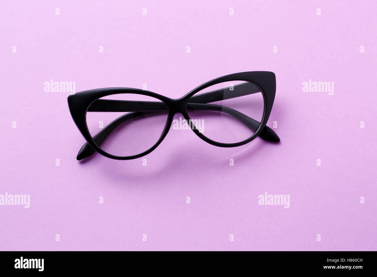 Purple Glasses Eyeglasses Spectacles Stockfotos & Purple Glasses ...