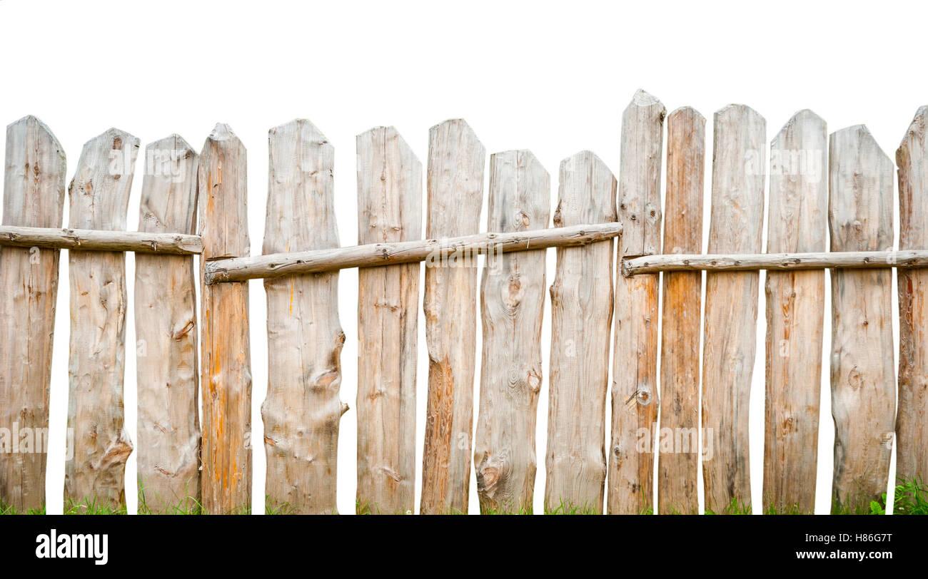 holzzaun planken, isoliert auf weiss stockfoto, bild: 125534300 - alamy