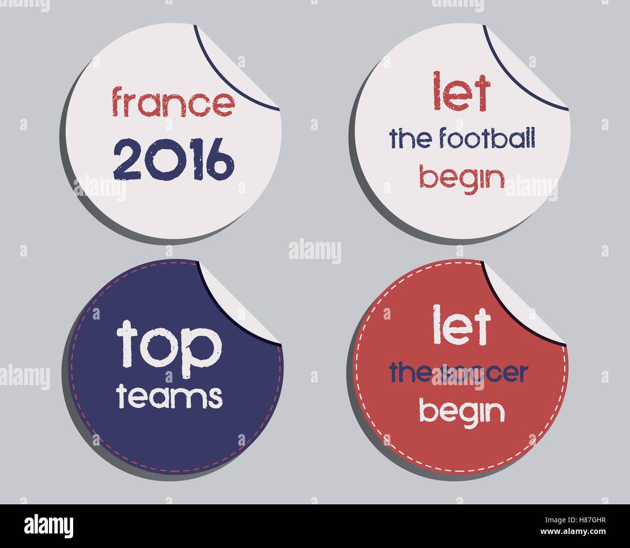 Satz Von Ungewöhnlichen Marke Identität Frankreich 2016