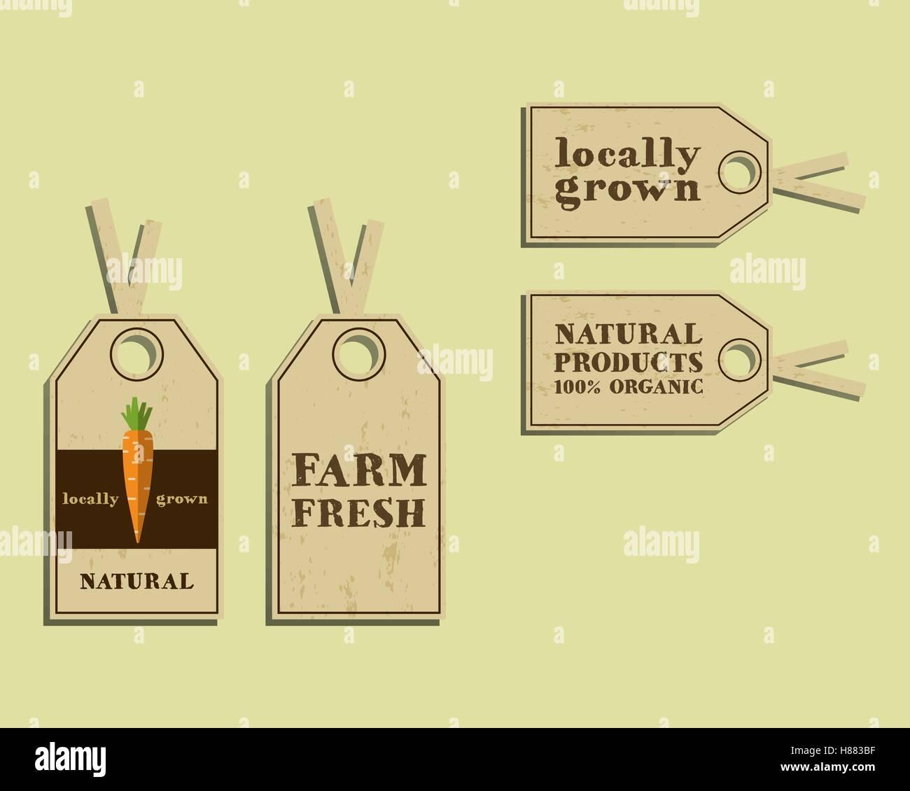 Stilvolle Farm Fresh Aufkleber und Etiketten, Vorlage oder Broschüre ...
