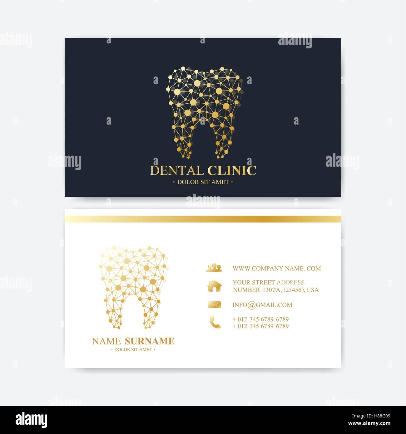 Premium Visitenkarten Druckvorlage Zahnklinik Visitenkarte