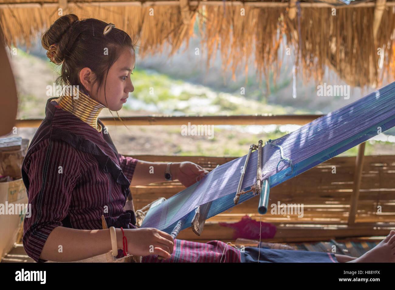 Karen Langhals Menschen in Nord-Thailand Stockfoto